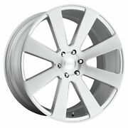 Dub 8 Ball S213 24x10 6x139.7 Offset 20 Gloss Silver Brushed Quantity Of 4
