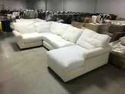 Pottery Barn Comfort Rollarm Sectional Chaise Chair Loveseat Corner No Slipcover