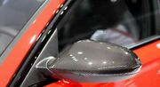 2x New Rearview Carbon Fiber Mirror Covers For Audi A6 S6 Rs6 4g C7 11-18