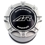 American Racing Silver Push Thru Center Cap For Ar898 Wheels P/n Ar8981cap