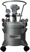 2.5 Gallon Stainless Steel Pressure Tank Double Regulated Air Agitated