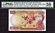 Singapore 10 Orchid Series Nd 1970 Signature- Gks Pick-3b About Unc Pmg 58