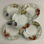 5 Charter Club Summer Grove Large Rimmed Soup Bowls 9 3/8