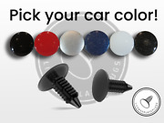 Set Of 4 License Plate Plugs Front License Plate Holes Covers Pick Your Color