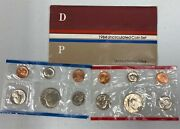 1984 Us Mint Uncirculated Coin Set-envelope Included. 10 Coinsandnbsp