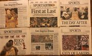 2000 La Lakers Championship Lot Of 21 Newspapers Kobe Bryant Shaquille Oand039neal