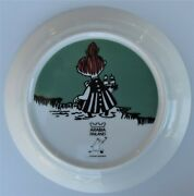 Little My Green Moomin Plate 19 Cm 2002-2007 2-sides Unused And Discontinued