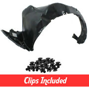 New Front Driver Side Fender Liner W/ Clips For 2010-2015 Toyota Prius To1248158