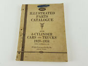 Ford 4 / 6 Cyl Cars / Trucks 1928 / 34 Factory Illustrated Parts Book