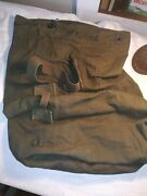 Wwii 1945 Us Military Army Duffle Bag Idand039d Hegge Biscayne Tent And Awning Co.