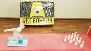 1980 Arcade Bowling Alley Game With Box Soviet Rare Game From Ussr Kegelban