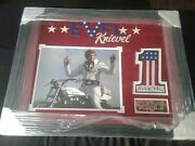 Evel Knievel Signed America Usa 1 Patch Psa/dna Certified