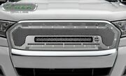 6315760 Polished Main Grille Grill W/ 1 20 In. Led Light Bar T-rex