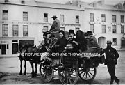 Galway Clifden Horse Drawn Mail Cart 1885 Vintage Mounted Picture Irish History