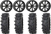 System 3 St-4 Black 20 Wheels 35 Outback Maxand039d Tires Rzr Xp 1000 / Pro Xp