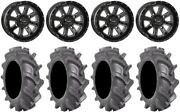 System 3 St-4 Black 14 Wheels 28 Bkt At 171 Tires Yamaha Grizzly Rhino
