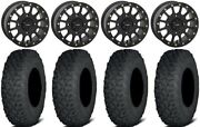 System 3 Sb-5 Black 15 Wheels 32 Coyote Tires Can-am Defender