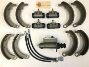 1936 Plymouth Dodge Brake Rebuild Kit With Wheel, Master Cylinders Shoes And Hoses