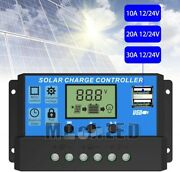 30a/60a Pwn Solar Panel Regulator Charge Controller 12v/24v Auto Focus Tracking