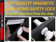 Magnetic Drawer Kitchen Cabinet Cupboard Lock Latch - Child Baby Toddler Safety