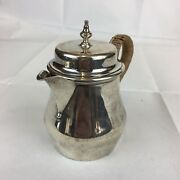 Antique 1913 William Comyns Solid Silver Rattan Handled Hot Water Pot 11.5cm H