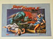 Street Fighter Ii 3d Extruded Action Poster 1992 21 X 14andrdquo Vintage Collectible