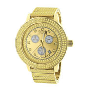 Real Diamonds Dial Stainless Steel 18k Gold Tone Men's Ice House Jo Rodeo Watch