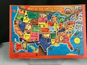 1956 Milton Bradley Co Outline Map Of The United States Puzzle