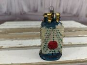 Antique Candle Clip On Holder Glass Shade Chinese Lantern As Is
