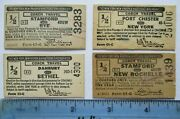 4 1969 Nynhhrr New York New Haven And Hartford Railroad Ticket Lot Vintage