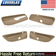 Coverlay Combo Light Brown 17-94c-lbr For Jetta Front And Rear Door Panel Inserts