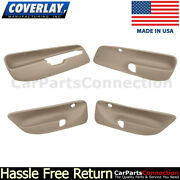Coverlay Combo Medium Brown 17-94c-mbr For Jetta Front And Rear Door Panel Inserts