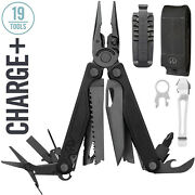 Leatherman - Charge Plus Multi Tool, Black With Molle Sheath, Bits And Pocket Clip