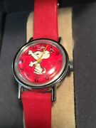 Vintage Snoopy 1959 Child's Mechanical Watch. Works, Arms Tell Time, Wind Up