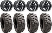 Raceline Podium Bdlk 14 Wheels Bk +38mm 32 Roctane Tires Textron Wildcat Xx