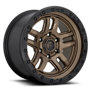20 Fuel Wheels D702 Ammo Bronze With Black Ring Dodge Toyota Chevy Ford Nissan