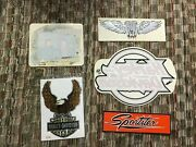 Vintage Large Harley Davidson Stickers Lot Of 5 Iconic Decals Engine Milwaukee
