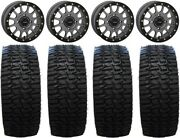 System 3 Sb-5 Grey 15 Wheels 35 Desert Race Tires Polaris Rzr Turbo S / Rs1