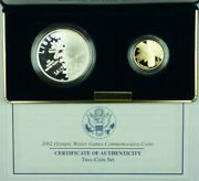 2002 Olympic Winter Games Commemorative Coins 2 Coin Set Us Mint Proof Coins