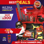 Hilti Te 6-a36 Hammer Drill W/ Dust Removal, Preowned, Free Laser, Fast Ship