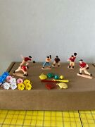 Vintage 1950s Plastic Baseball Players Figures Cake Toppers Decorations 26 Lot