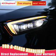 For Benz A-class W177 A200 Headlights Assembly All Led Light Source 2019-2020