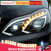 For Benz E-class W212 Headlights Assembly Bi-xenon Lens Projector Led Drl 14-16