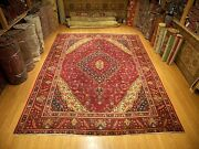 9.9 X12.9 Vintage Handmade Hand Knotted High Quality Antique 1930s Wool Rug
