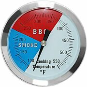 3 1/8 Inch Barbecue Charcoal Grill Smoker Temperature Gauge Pit Bbq Thermometer