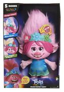 Trolls Dreamworks World Tour Color Poppin Poppy In Hands, Ready To Ship