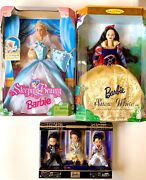 Barbie Collection - Sleeping Beauty, Snow White, And Tommy As Elvis - 3 Dolls