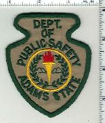 Adams State Dept Of Public Safety Colorado 1st Issue Shoulder Patch