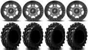 Fuel Anza Beadlock Gm 14 Wheels 29.5 Swamp Lite Tires Kawasaki Mule Pro Fxt