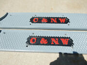 Antique C And Nw Railroad Caboose Threshold Sill Plate, Door Plate, Cast Iron